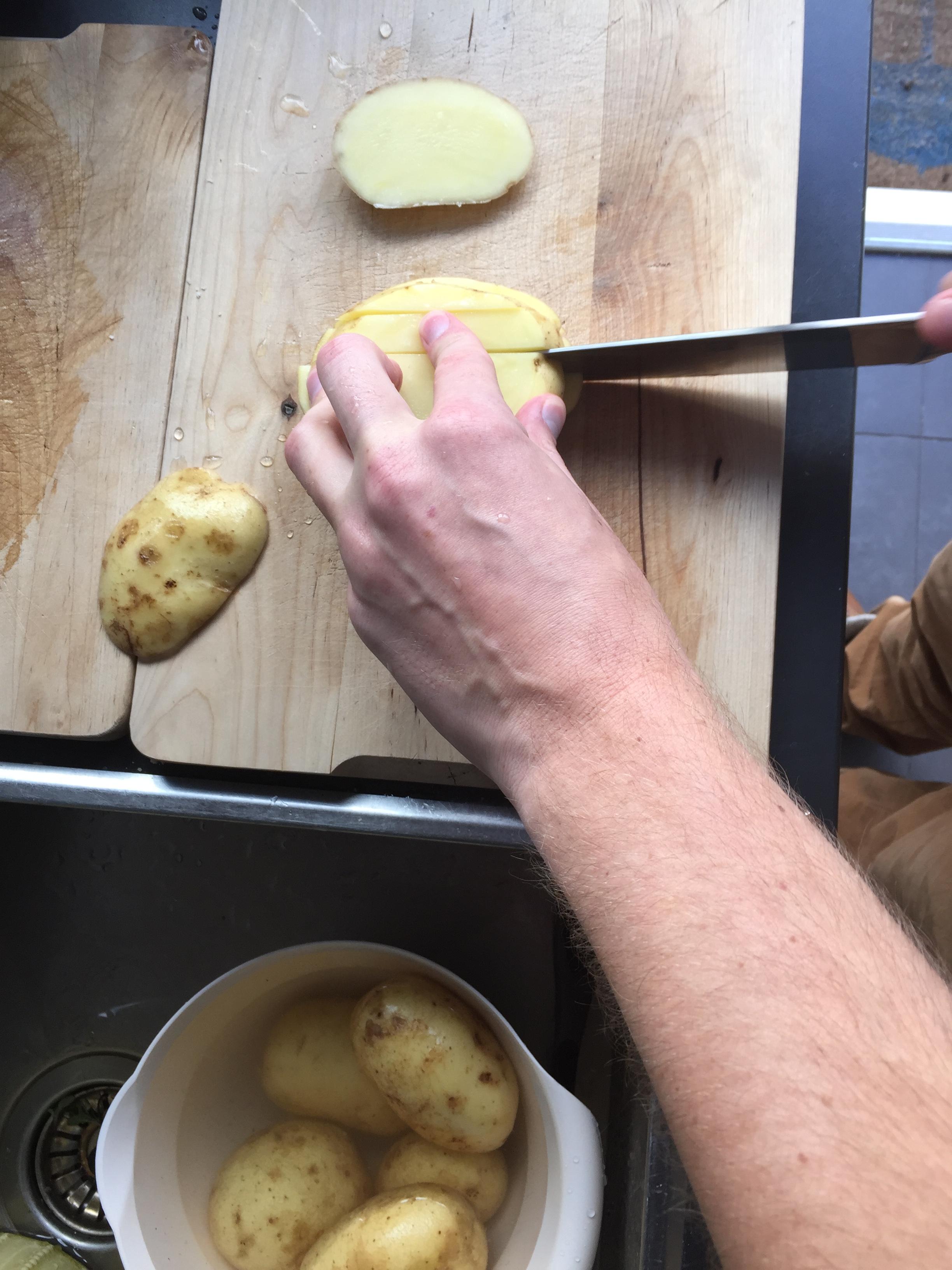 aardappels snijden